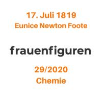 29/2020: Eunice Newton Foote, 17. Juli 1819