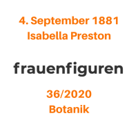 36/2020: Isabella Preston, 4. September 1881