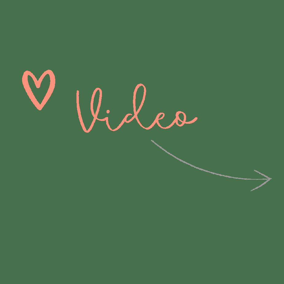 Video Symbol mit Herz und Pfeil