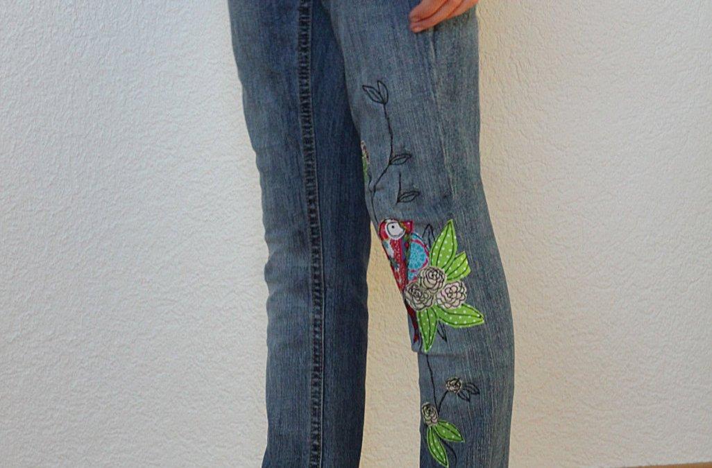 Frau Fadegrad Jeans enger nähen