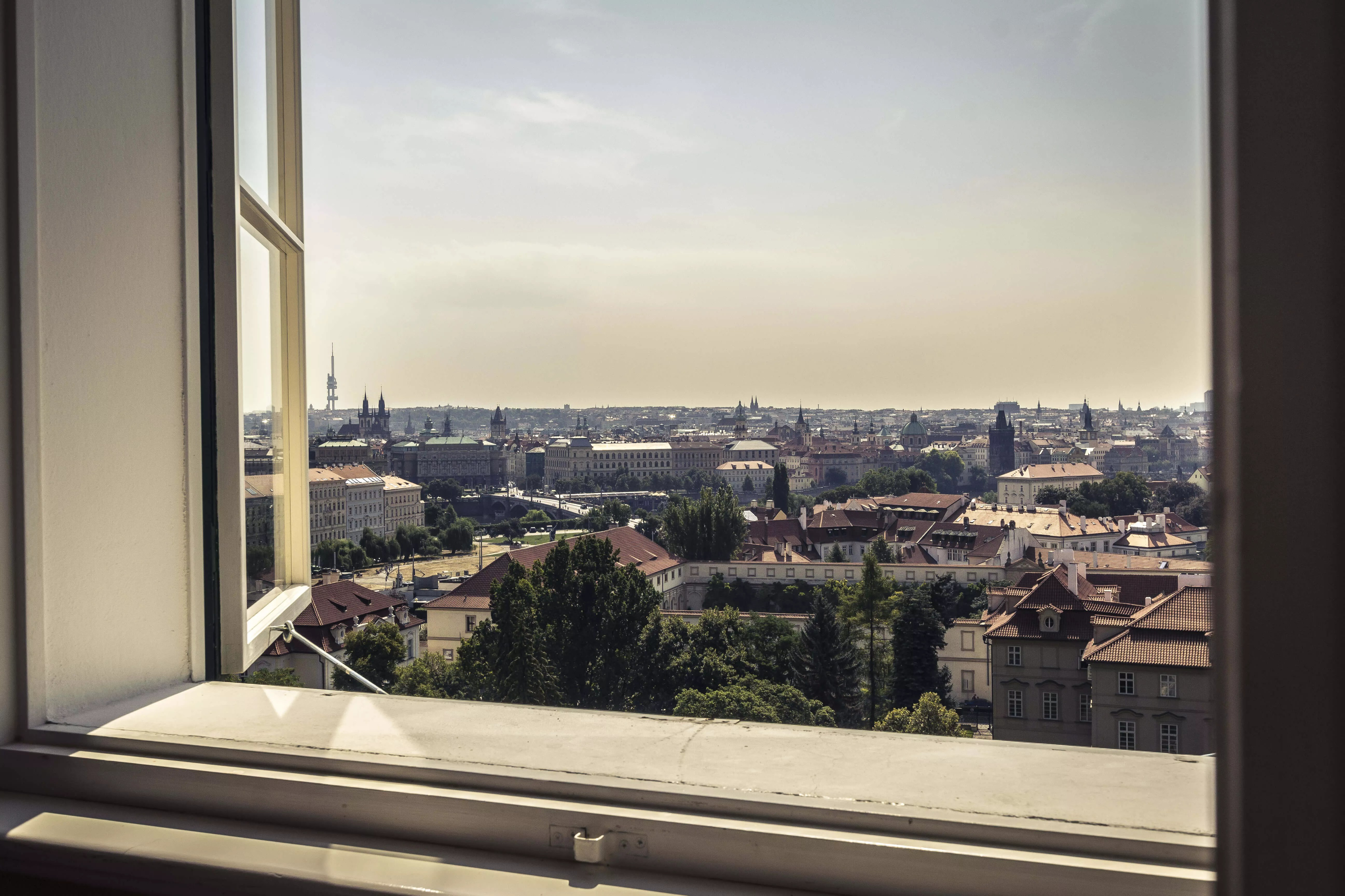 Prag aus dem Fenster