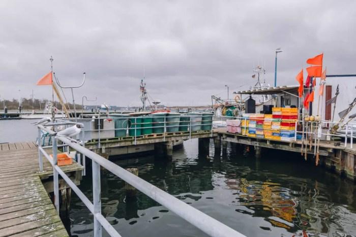 Der Fischereihafen Travemünde kurz vor Niendorf