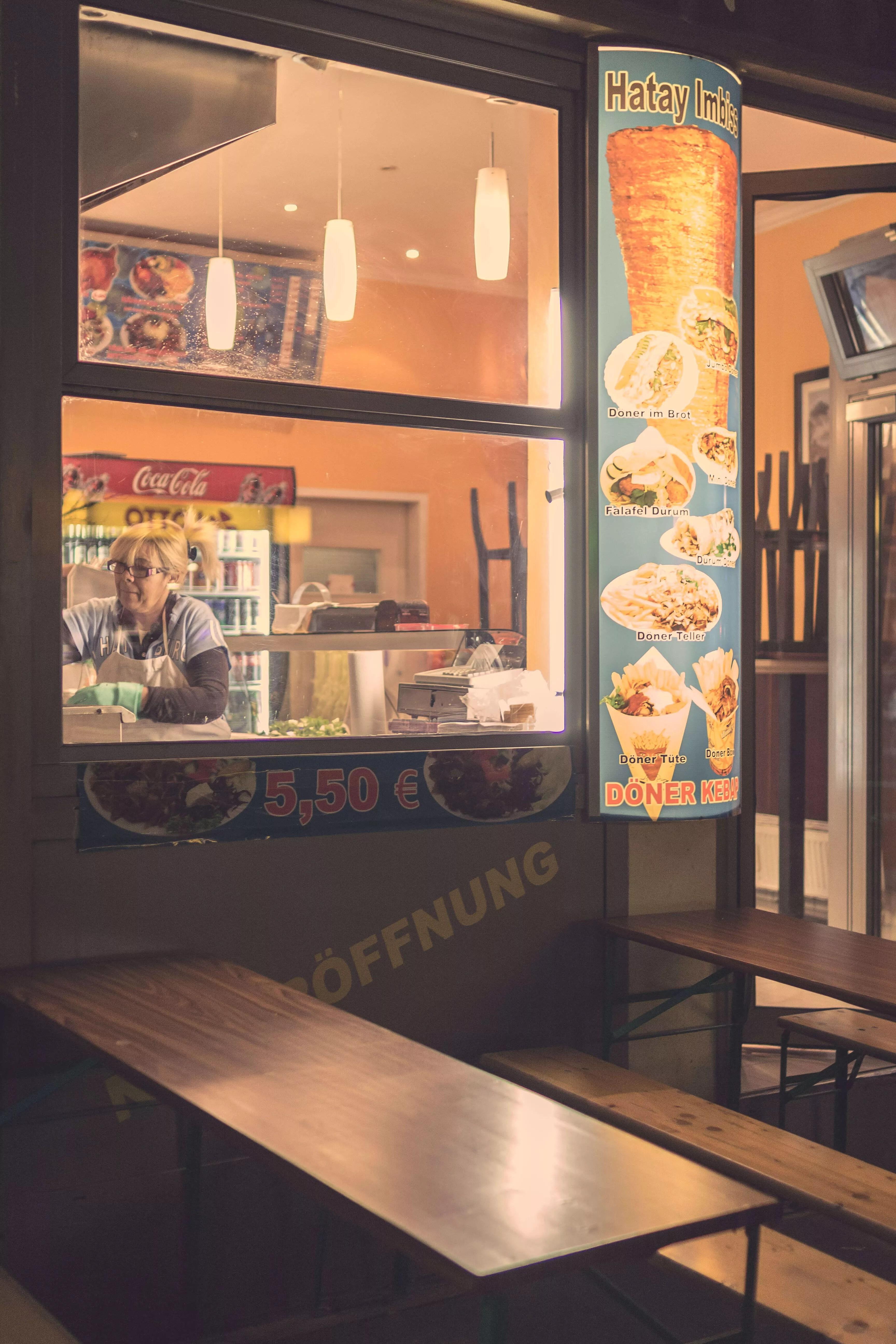 Abends im hamburger Portugiesenviertel