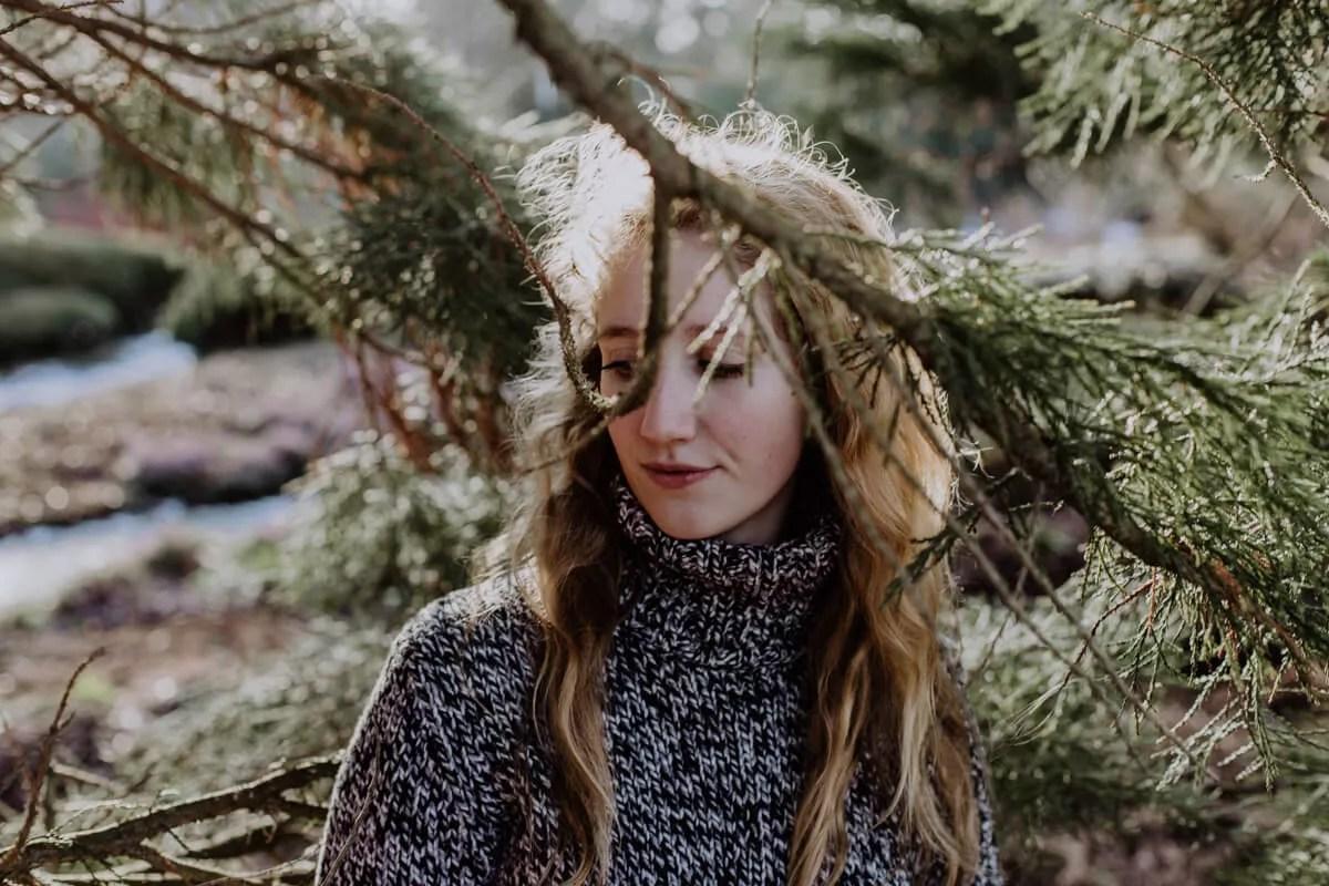 Stimmungsvolles Portraitshooting bei winterlichen Temperaturen in Planten un Blomen