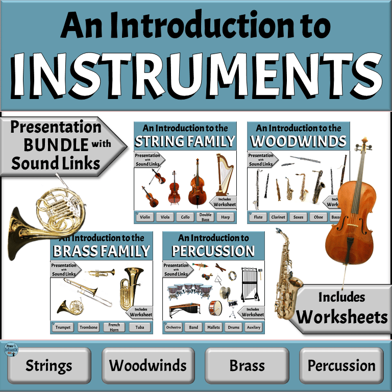 Meet the Musical Instruments of the Orchestra and Band | Elementary Music Classroom