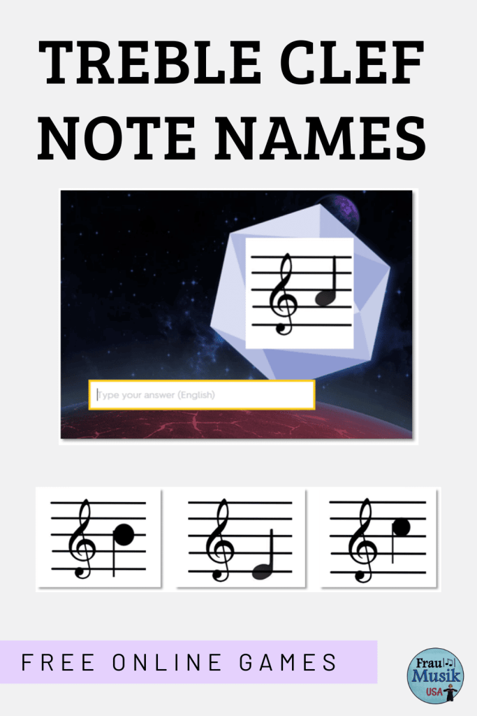 FREE Treble Clef Note Name Games