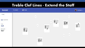 Treble Clef Lines Game