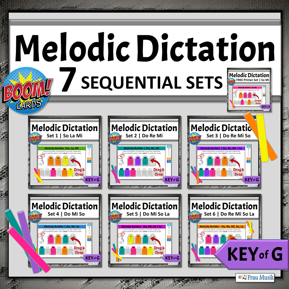 No-Prep Activities for Elementary Music Classroom or Distance Learning | Boom Cards Sequential BUNDLE