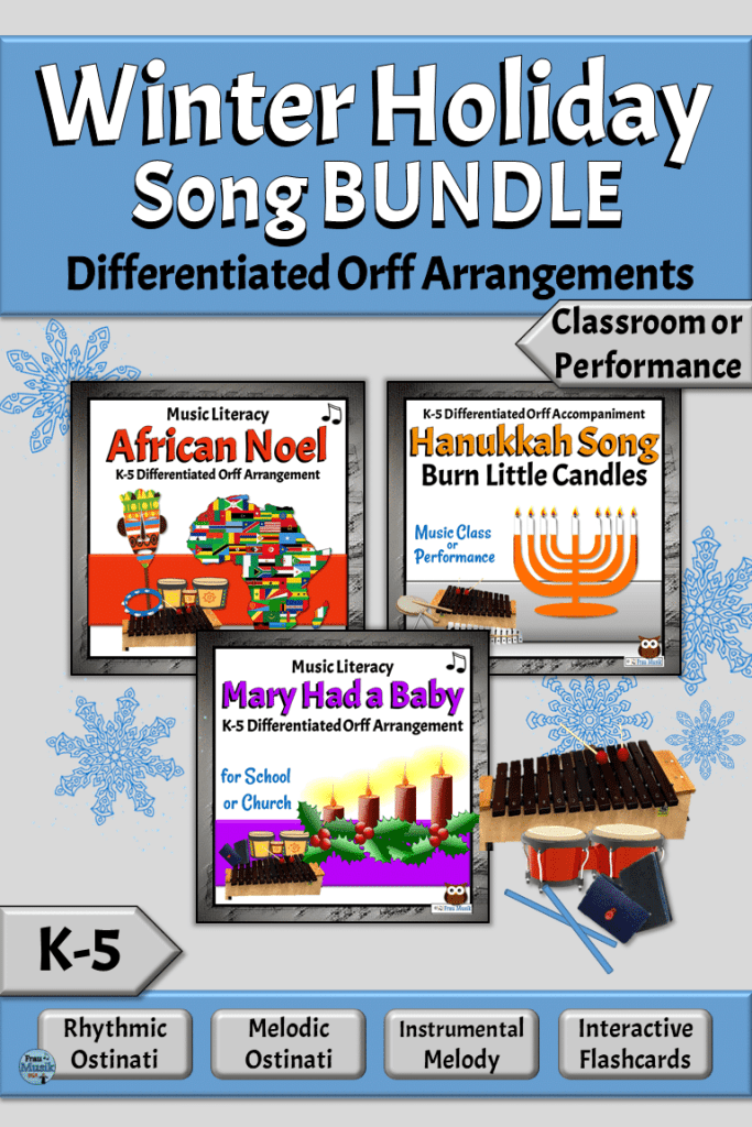 Winter Holiday Song Bundle for Elementary Music Classrooms