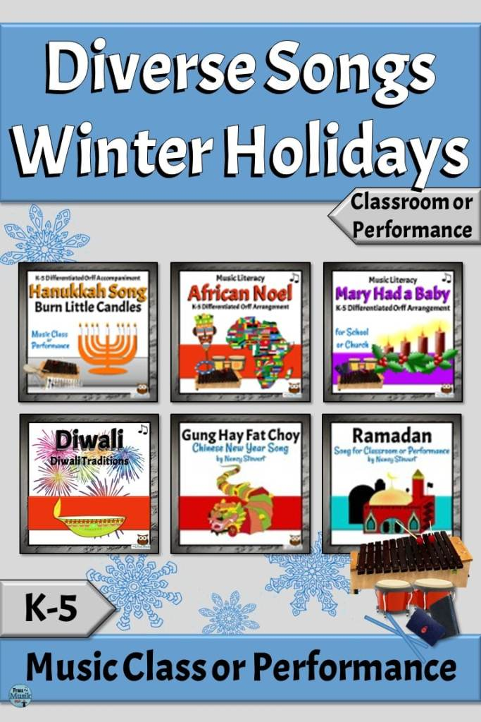 Diverse Winter Holidays Songs for the Elementary Grades