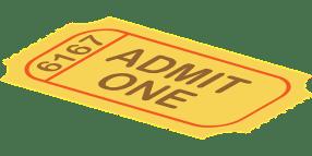 Ticket used as classroom reward