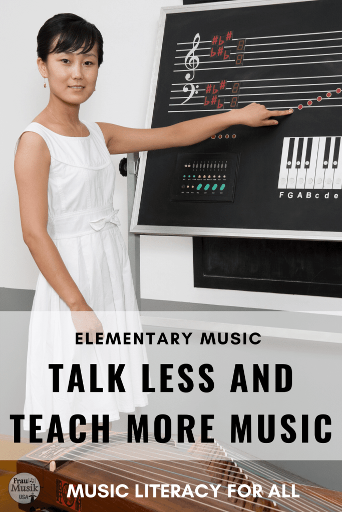 Talk Less and Teach More Music | Teacher Tips for the Elementary Music Classroom