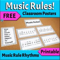 FREE Music Rule Rhythm Posters