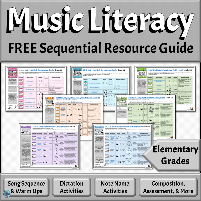 Creating Perfect Elementary Music Lesson Plans is Simple with this FREE Resource Guide