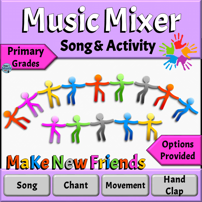 Back to School Music Activities for Elementary Music Classroom | Music Mixer Songs & Games