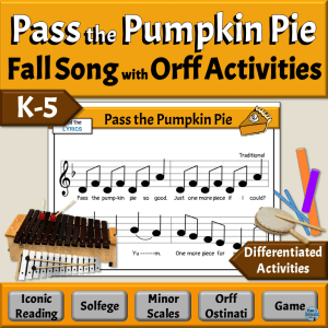 Fun Fall Song, Game, & Activities | Differentiated Orff Accompaniments - Elementary Music Classroom
