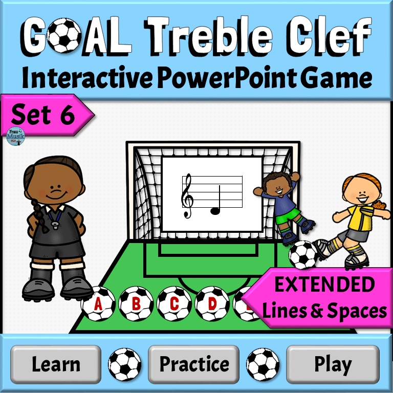 Treble Clef Interactive PowerPoint Game