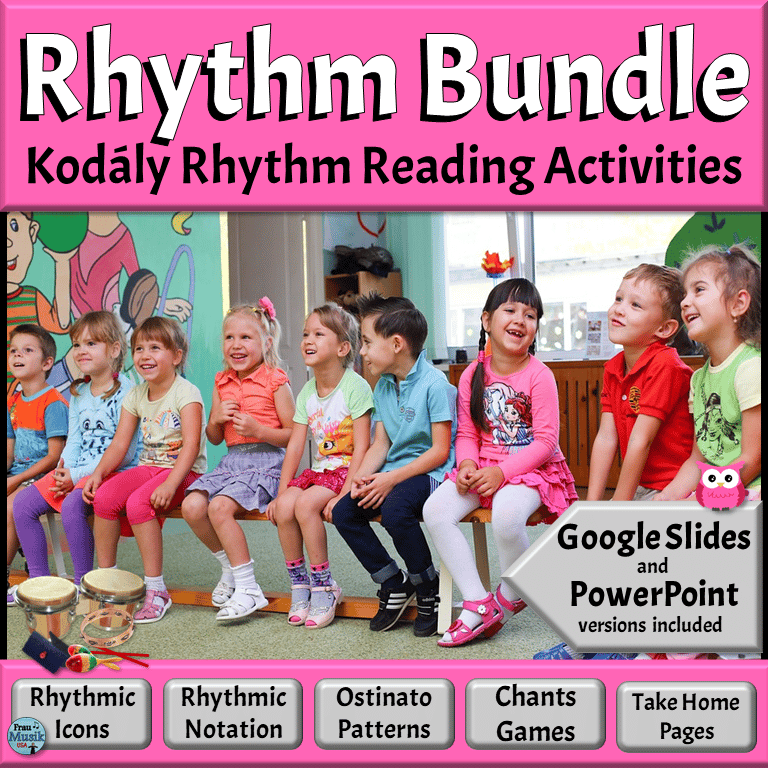 Rhythm Reading BUNDLE | Elementary Music Activities - Movement, Chants, Orff Instruments