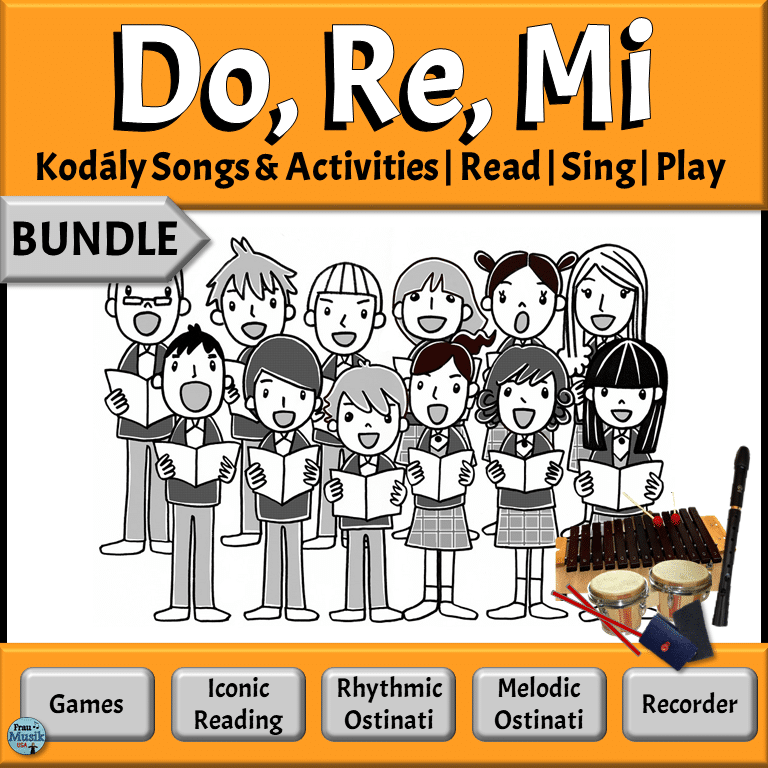 Kodály Songs & Activities for Developing Music Literacy in the Elementary Music Classroom | Do Re Mi