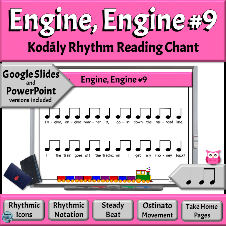 Favorite Elementary Music Lessons, Musical notation for Engine, Engine #9 with rhythm instruments