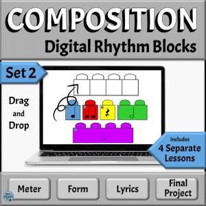 Music Composition Drag & Drop Rhythm Blocks, Set 2 | PowerPoint Version
