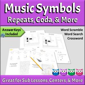Music Symbols Puzzles | Repeats, Coda, & More
