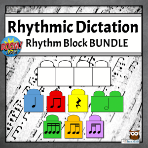 Rhythmic Dictation Blocks with Music Notes