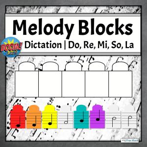 Melodic Dictation Blocks | Do, Re, Mi, So, La