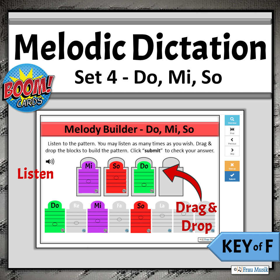 No-Prep Activities for Elementary Music Classroom or Distance Learning | Boom Cards Do Mi So