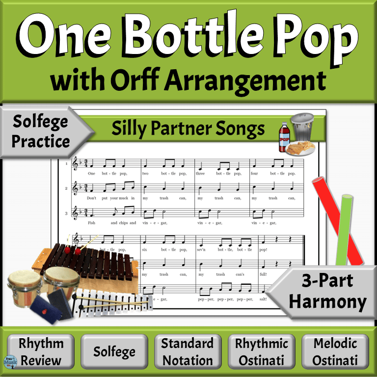 Silly Partner Songs with Orff Accompaniment | One Bottle Pop