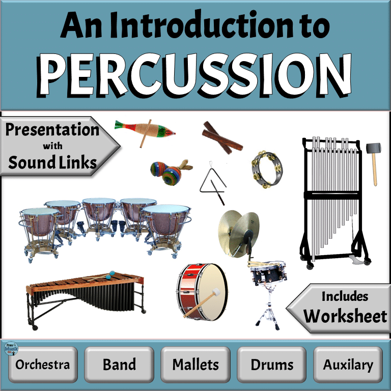 Meet the Instruments of the Orchestra - Percussion Family   Elementary Music Education