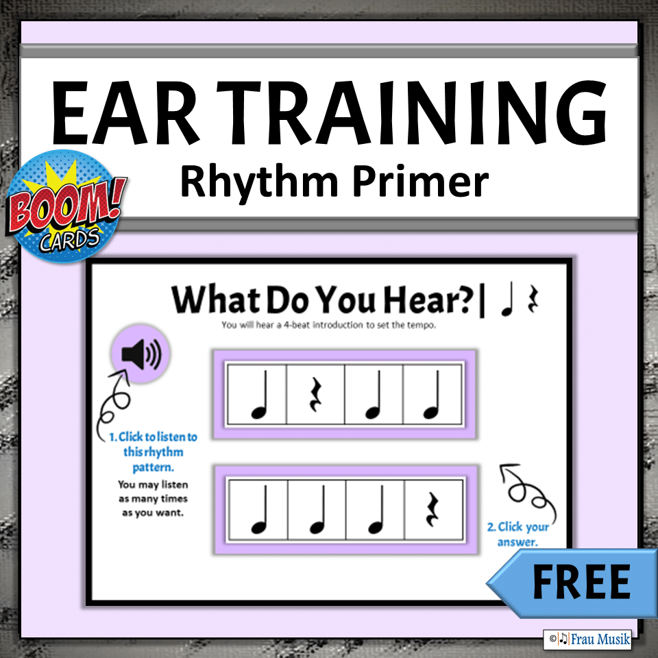 FREE - Identifying Rhythm Patterns | Elementary Music Activities for Classroom or Distance Learning