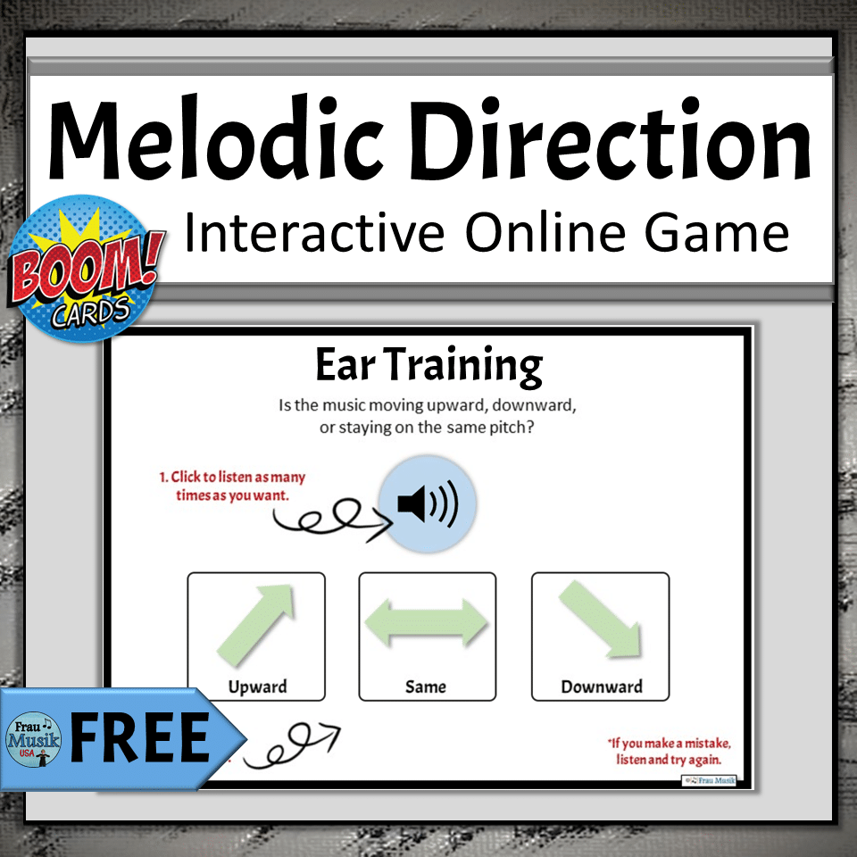FREE Online Elementary Music Activities for Distance Learning | Ear Training Melodic Direction