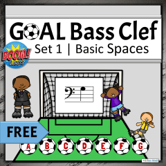 Online Elementary Music Activities for Distance Learning | Bass Clef Note Names Boom Cards, Set 1