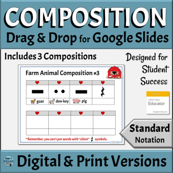 Music Composition Templates for Elementary Grades | Digital & Printable