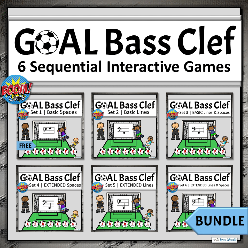 Elementary Music Online Activities for Teaching and Learning | Bass Clef BUNDLE
