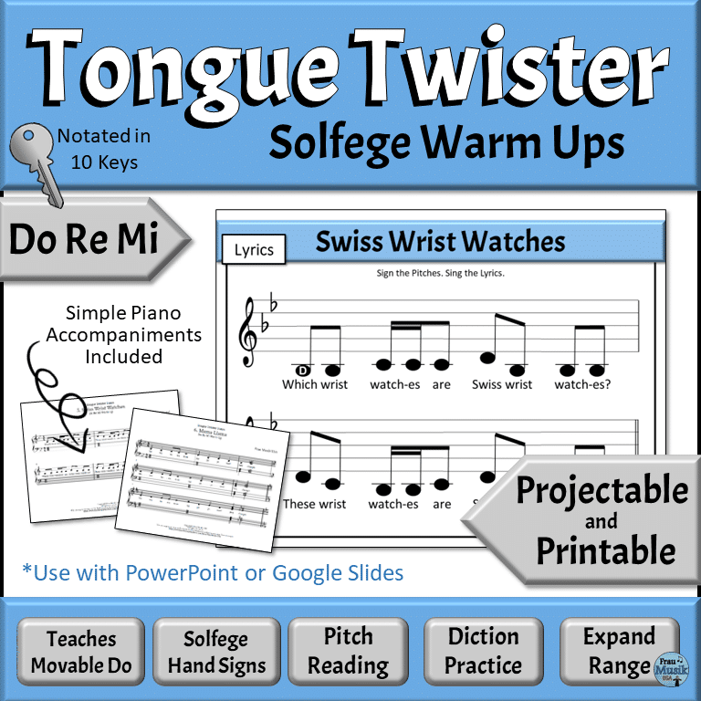 Sequential Solfege Vocal Music Warm Up Activities - Do Re Mi | Developing Music Literacy