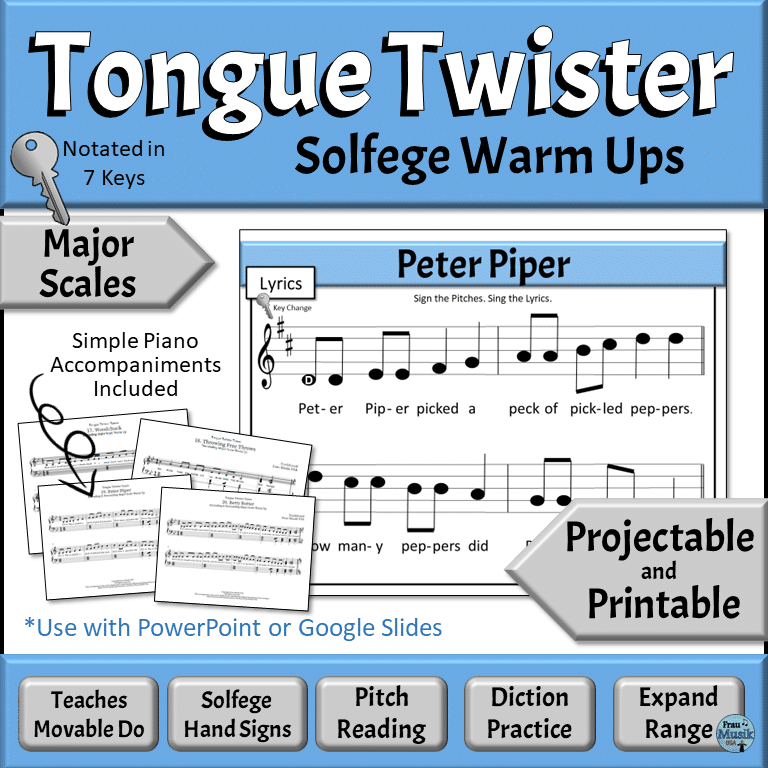 Sequential Solfege Vocal Music Warm Up Activities - Major Scales | Developing Music Literacy