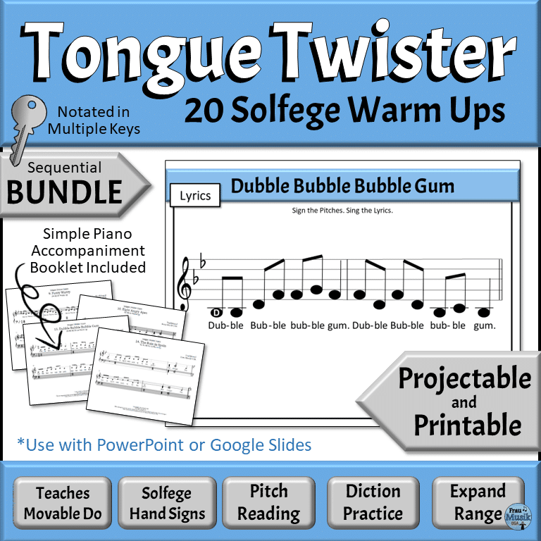 Vocal Music Warm Up Activities | Improve Music Literacy Skills with Sequential Solfege Activities