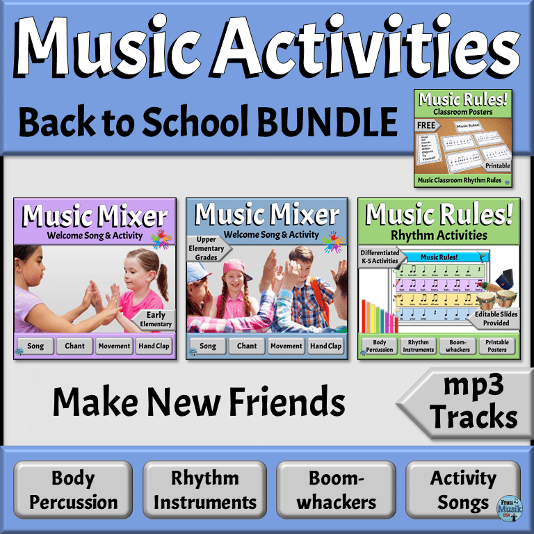 Welcome Your Students with Engaging Back to School Elementary Music Activities