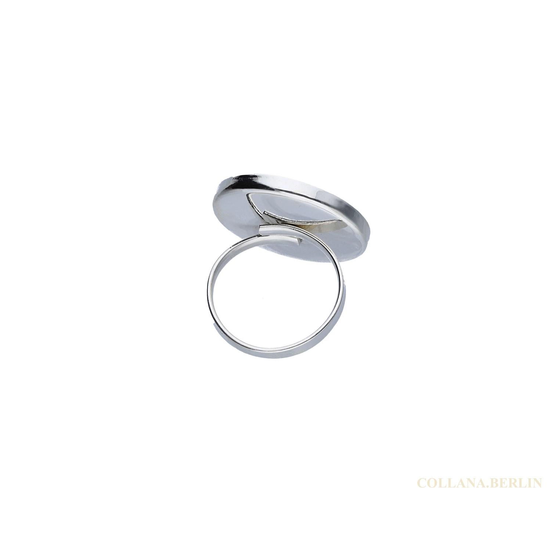 Ring 925 Silber Shivaauge Kristalle gro verstellbar
