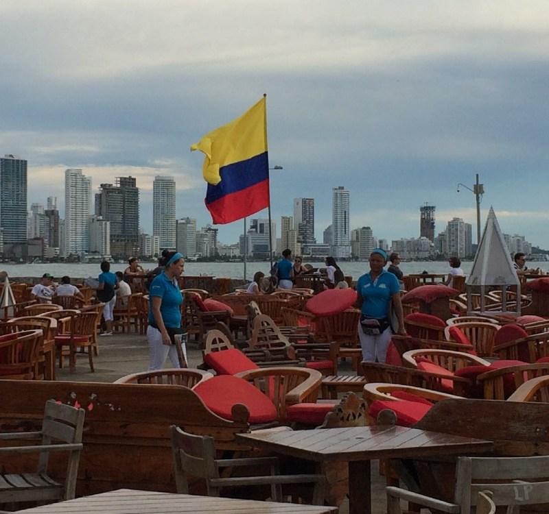 An der Stadtmauer von Cartagena