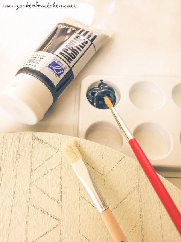 DIY Ethno-Look für schlichte Dekoschalen