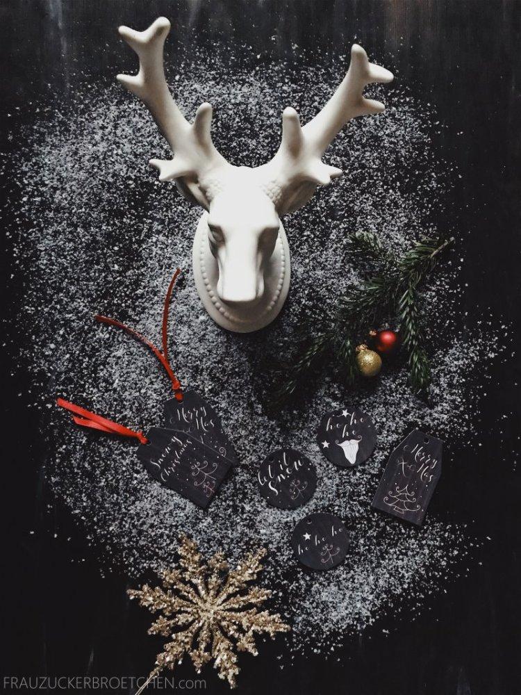 Festliche Geschenkeanhänger Weihnachten
