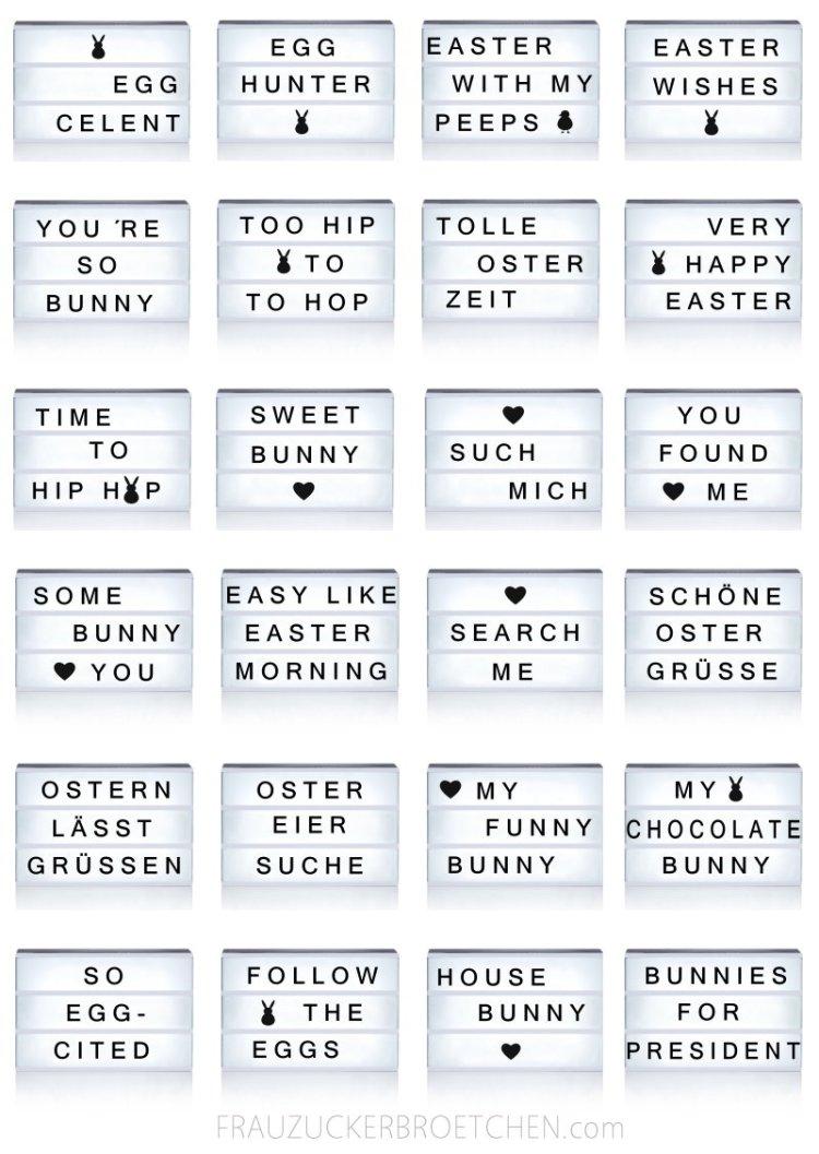 Coole Sprüche für die Lichtbox Easter Edition3