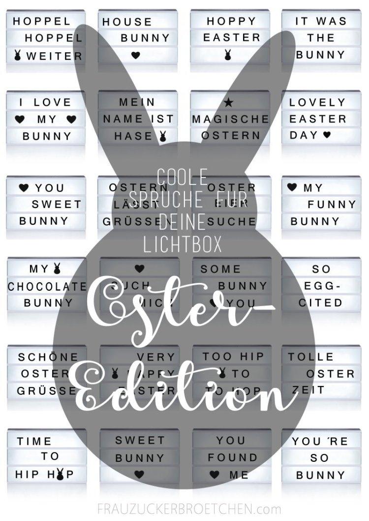 Coole Sprüche für deine Lichtbox   Teil 5 // Die Oster Edition