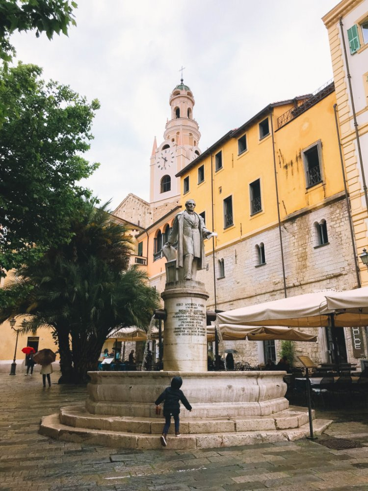 Der erste Tag in Sanremo Italien