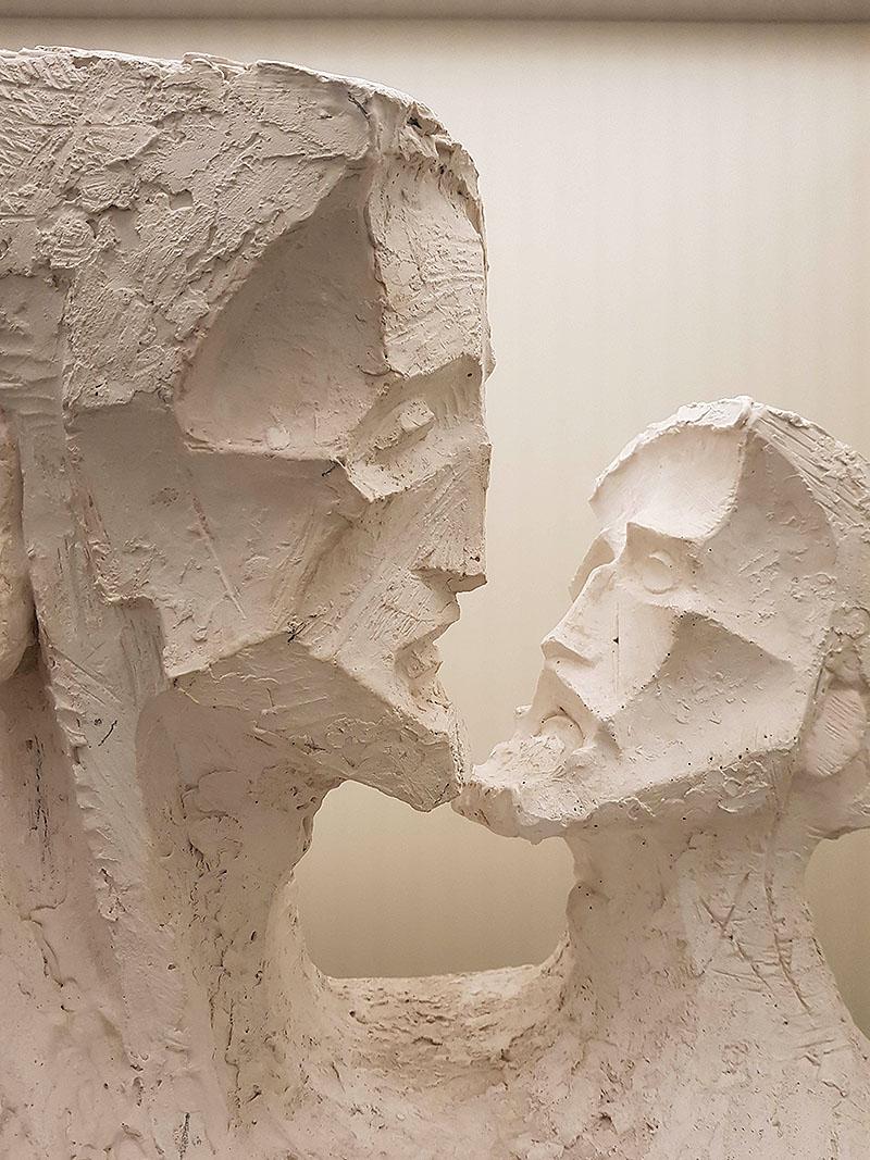 Steinskulupturen der Sagrada Familia im Museum