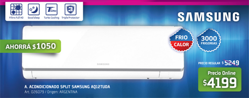 Aires acondicionados Fravega con Samsung
