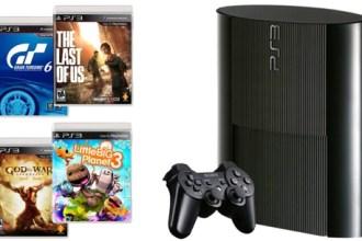 Consola PS3 Sony con 4 juegos